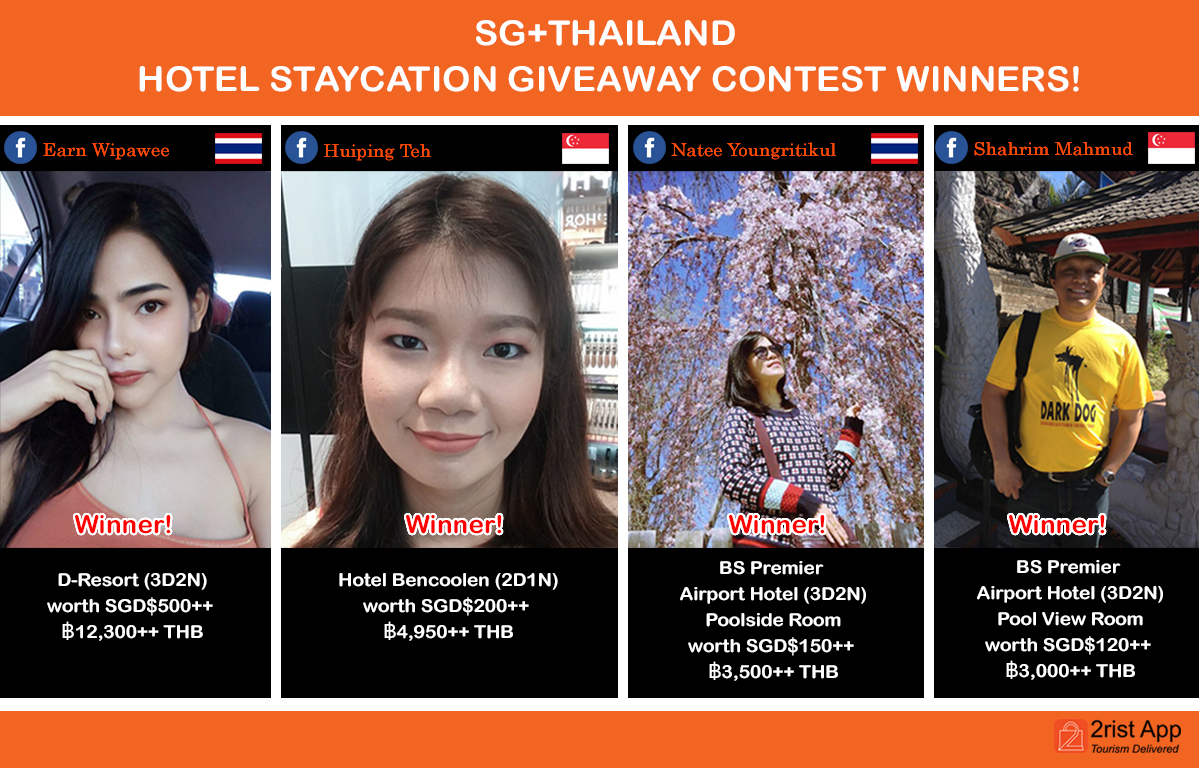 SGTHAILAND Hotel Staycation Giveaway Winners 2017
