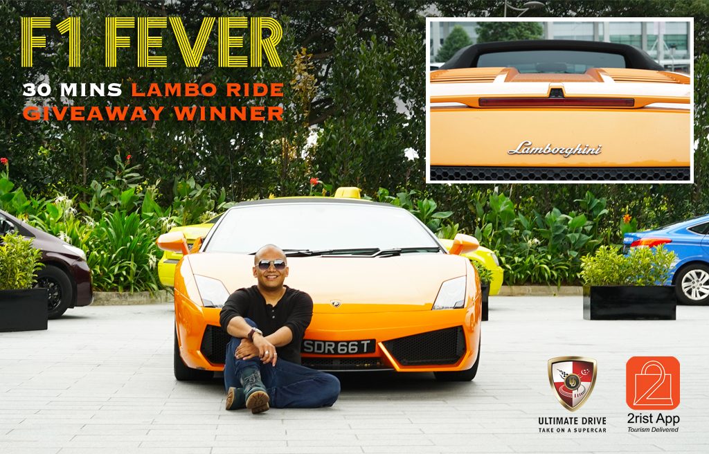 F1 Fever Lambo Giveaway Winner Rides