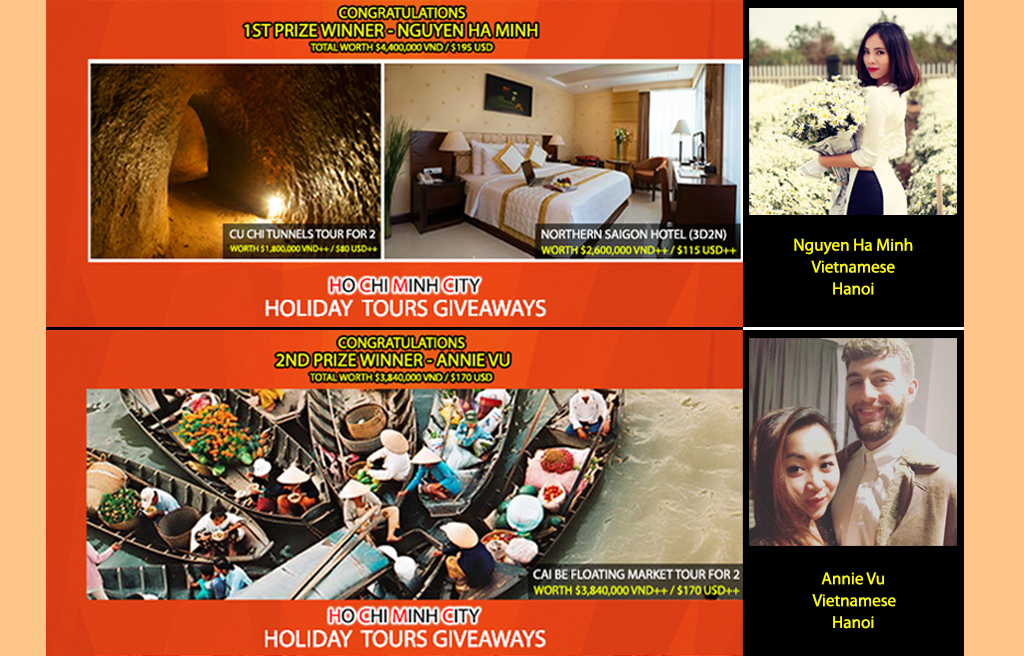 HCMC Holiday Tours Winners
